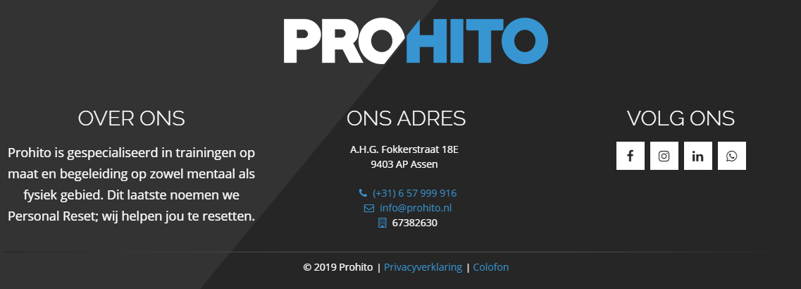 Homepage Prohito