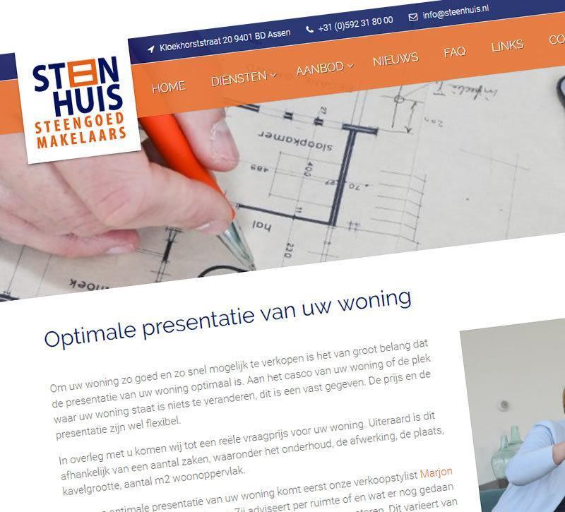 De nieuwe website van Steenhuis Makelaars Assen